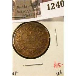 1240 . 1861 New Brunswick One Cent, VF, value $15