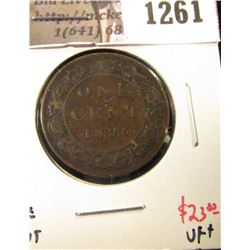 1261 . 1895 Canada One Cent, VF+, value $23