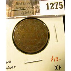 1275 . 1908 Canada One Cent, XF, value $13