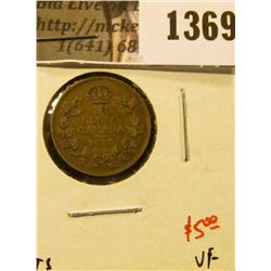 1369 . 1917 Canada Ten Cents, VF, value $5