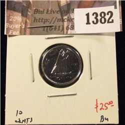 1382 . 1991 Canada Ten Cents, BU, value $25