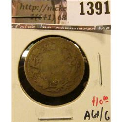 1391 . 1899 Canada 25 Cents, AG+/G, value $10
