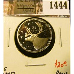 1444 . 1991 Canada 25 Cents, Proof, value $20