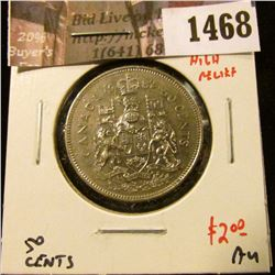 1468 . 1982 Canada 50 Cents, LB high relief, AU, value $2 to $5