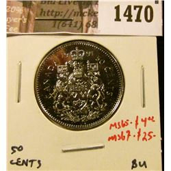 1470 . 1991 Canada 50 Cents, BU, MS65 value $4, MS67 value $25