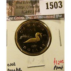 1503 . 1991 Canada One Dollar, Proof, value $12+