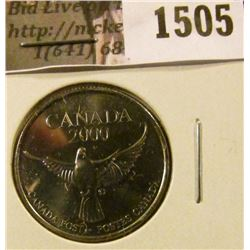 1505 . 2000 Canada Post Millenium 25 Cents sized Token, value $10+