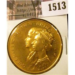 1513 . 1967 Canada Royal Visit Brass or Bronze Medal, Elizabeth & P