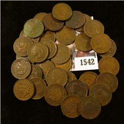 1542 . (35) Circulated Indian Head Cents.