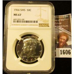 1606 . 1966 Kennedy Half Dollar From A Special Mint Set Graded Ms 6