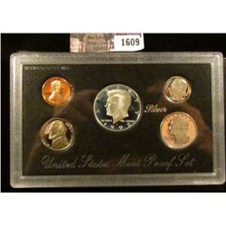 1609 . 1992 S Silver Proof Set.  The Half Dollar, Quarter, And Dime
