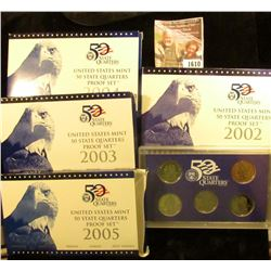 1610 . 2002 S, 2003 S, 2004 S, And 2005 S Proof State  Quarter Sets
