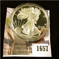 1657 . 2003-W Proof American Silver Eagle Encapsulated