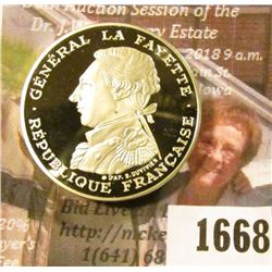1668 . French Silver Proof 100 Francs Coin Dated 1987.  It Has Gene