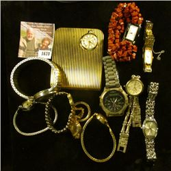 1670 . Vintage Lot Of Wrist Watches.  These Have Not Been Checked T