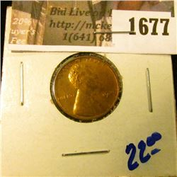 1677 . Red 1929 Wheat Cent with Some Toning