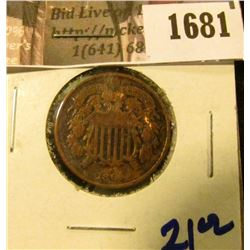 1681 . 1864 Two Cent Piece