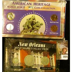 1684 . New Orleans Mint Mark Collection Includes 1908-O Barber Half