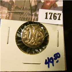 1767 . Seated Liberty Dime Love Token.  On One Side Are The Letters