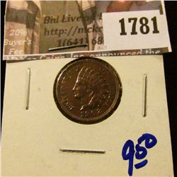 1781 . 1902 Indian Head Penny