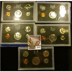1818 . 1968 S, 69 S, 71 S, & 72 S Proof Sets.  The Half Dollars On
