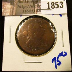 1853 . 1807 Draped Bust Large Cent