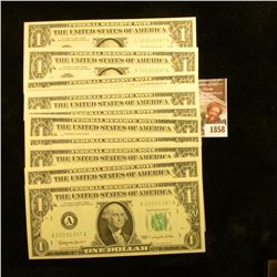 1858 . (12) Crisp Series 1963 One Dollar Notes.  They All End In Th