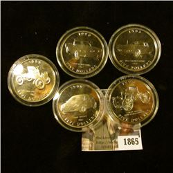 1865 . Marshall Islands Five Dollar Coins With Ford Cars Including