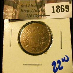 1869 . 1864 Two Cent Piece
