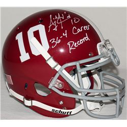 "AJ McCarron Signed Alabama Full-Size Authentic Pro-Line Helmet Inscribed ""36-4 Career Record"" (Radtk"