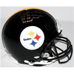 "Terry Bradshaw Signed Steelers Full-Size Authentic Pro-Line Helmet Inscribed ""4x SB Champs,"" ""2x SB"