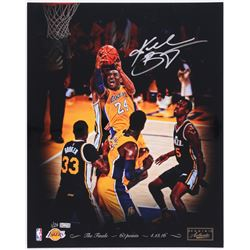 "Kobe Bryant Signed Lakers ""04/13/2016"" 16x20 Photo Limited Edition #1/24 (Panini COA)"