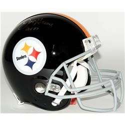 "Joe Greene Signed Steelers Throwback Full-Size Authentic Pro-Line Helmet Inscribed ""HOF 87"" (JSA COA"