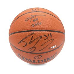 "Allen Iverson  Shaquille O'Neal Signed Basketball Inscribed ""2K16"" LE 30 (UDA COA)"