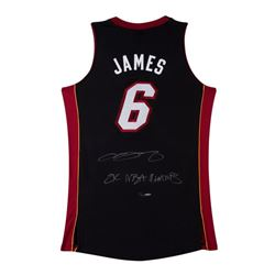 "LeBron James Signed LE Heat Jersey Inscribed ""2x NBA Champs"" (UDA COA)"