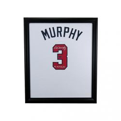 "Dale Murphy Signed Braves 23x27 Custom Framed Jersey Display Inscribed ""NL MVP 82, 83"" (Radtke COA)"