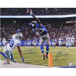 "Odell Beckham Jr.  Eli Manning Signed LE Giants ""The Catch"" 16x20 Photo (Steiner COA)"