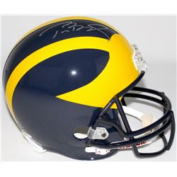 Tom Brady Signed Michigan Wolverines Full-Size Helmet (Tristar COA)