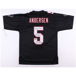 "Morten Andersen Signed Falcons NFL Jersey Inscribed ""NFL Record 2544 Points""  ""382 Games, 565 Field"