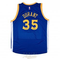 "Kevin Durant Signed LE Warriors Authentic Adidas Swingman Jersey Inscribed ""Dub Nation"" (Panini COA)"