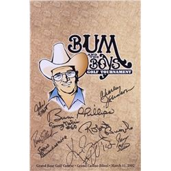 """Bum and the Boys Golf Tournament"" 11x17 Poster Signed By (9) with Bum Phillips, Ken Burroughs, Robe"