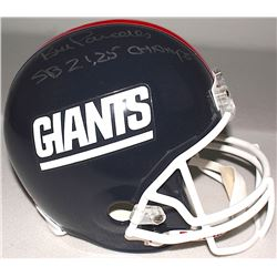 "Bill Parcells Signed Giants Full-Size Throwback Helmet Inscribed ""SB 21,25 Champs"" (Radtke COA)"