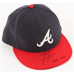 "Freddie Freeman Signed Game-Used Braves Hat Inscribed ""Game Used"" (MLB Hologram)"