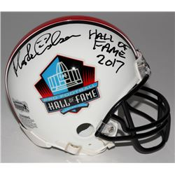 "Morten Andersen Signed Hall of Fame Commemorative Mini Helmet Inscribed ""Hall of Fame 2017"" (Radtke"
