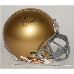 "Tim Brown Signed Notre Dame Fighting Irish Full-Size Authentic Pro-Line Helmet Inscribed ""Heisman '8"