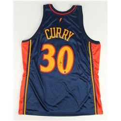 Stephen Curry Signed Throwback Warriors Jersey (Fanatics)