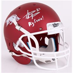 "Steve Atwater Signed Arkansas Razorbacks Full-Size Helmet Inscribed ""Pig Sooie!"" (JSA COA)"