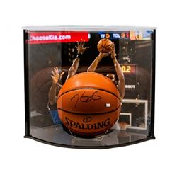 Kevin Durant Signed Official Game Ball Series Basketball with Curve Display Case (Panini COA)