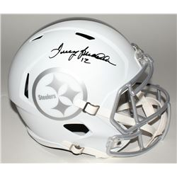 Terry Bradshaw Signed Steelers Custom Matte White Full-Size Speed Ice Helmet (JSA COA)