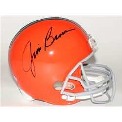 Jim Brown Signed Browns Full-Size Authentic Helmet (Fanatics Hologram)